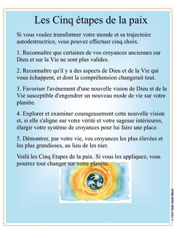 Les 5 étapes de la paix