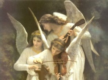 Peinture: William Adolphe Bouguereau - Anges jouant du violon