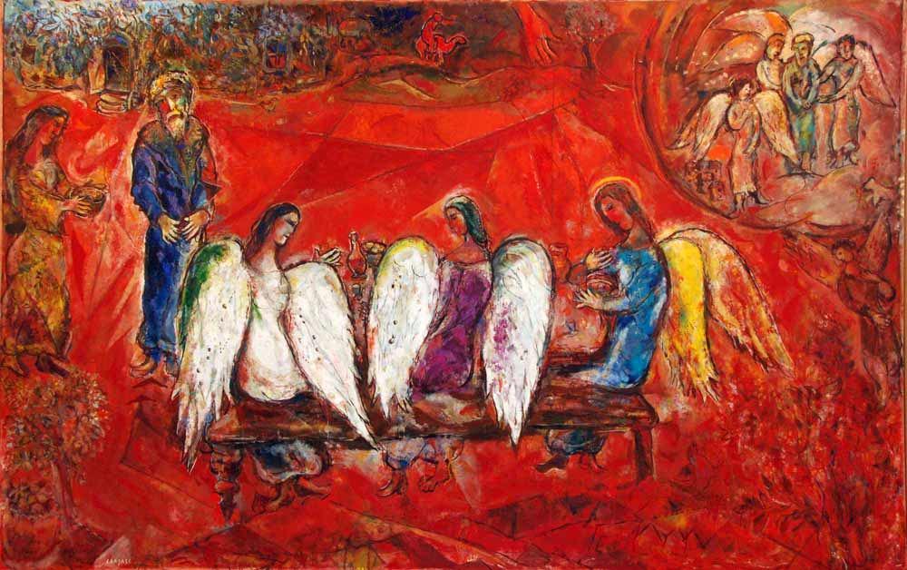 """Tableau: Marc Chagall """"Abraham et les trois anges"""""""
