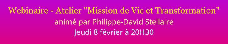 """Webinaire-Atelier """"Mission de Vie et Transformation"""